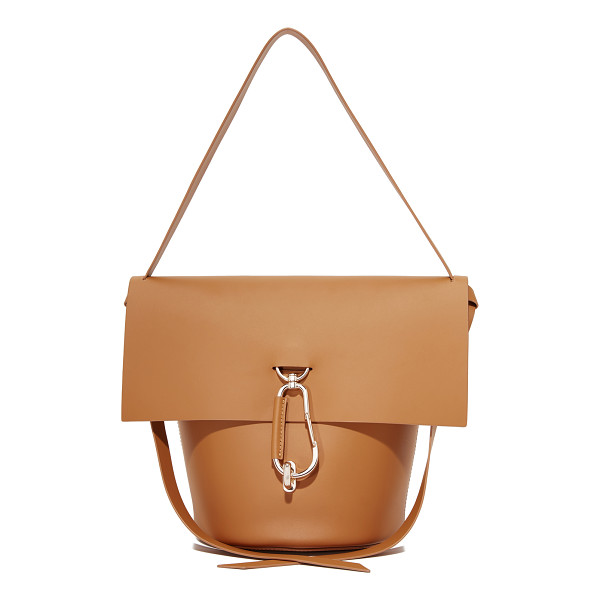 ZAC ZAC POSEN belay shoulder bag - A polished carabiner at the turn-lock top flap adds a