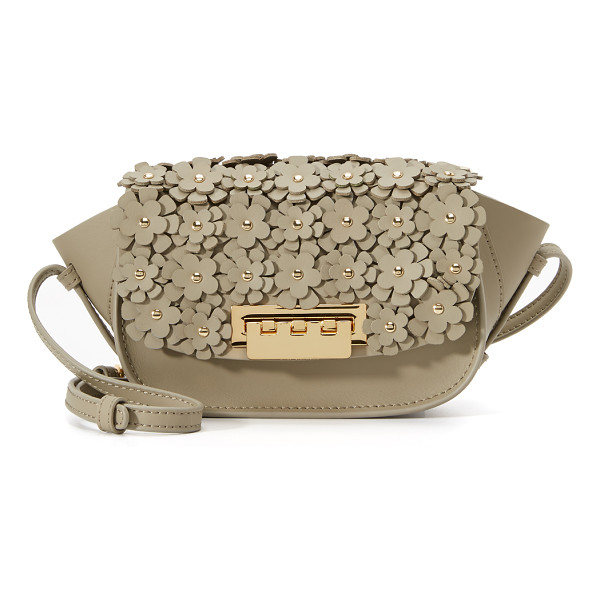 ZAC ZAC POSEN Eartha floral cross body bag - A dense arrangement of floral appliqués covers the top flap