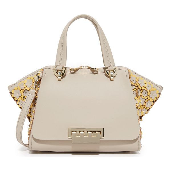 ZAC ZAC POSEN eartha small double handle bag - Floral appliqués cover the flared sides of this ZAC Zac