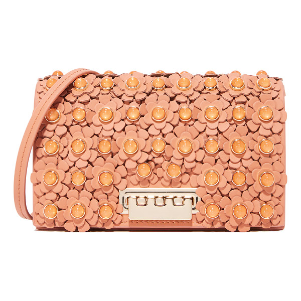ZAC ZAC POSEN earthette floral cross body bag - Floral appliqués with polished cabochons lend rich texture