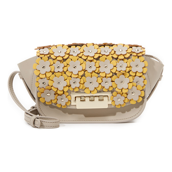 ZAC ZAC POSEN Embellished eartha micro accordion cross body bag - A petite ZAC Zac Posen cross body bag with flared sides,
