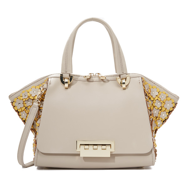 ZAC ZAC POSEN Embellished eartha small double handle bag - A smooth leather ZAC Zac Posen tote with flared sides and...