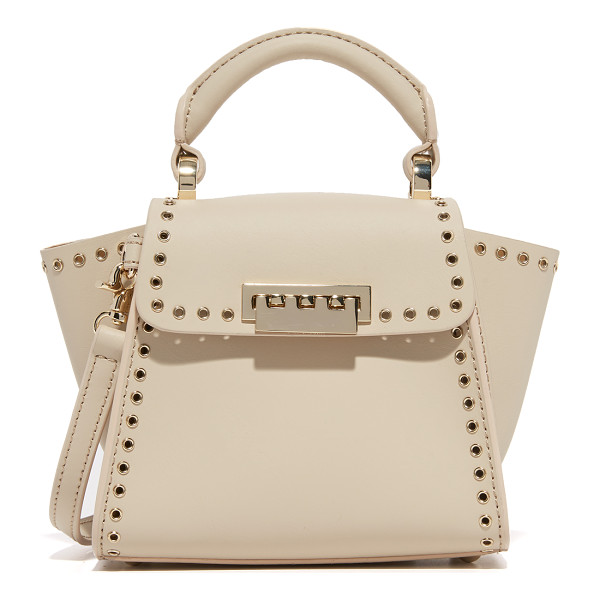 ZAC ZAC POSEN Grommet eartha top handle mini bag - Polished grommets trim this petite leather ZAC Zac Posen