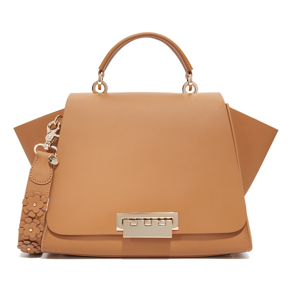 ZAC ZAC POSEN eartha iconic soft top handle bag - A structured ZAC Zac Posen handbag in smooth leather. Slim