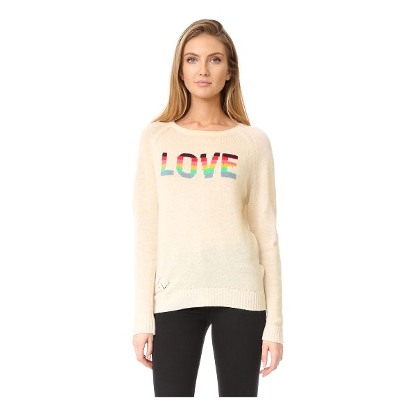 ZADIG & VOLTAIRE baily bis cashmere sweater - Intarsia 'Love' lettering adds a charming touch to this...