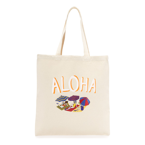 ZHUU aloha tote - A lightweight Zhuu tote accented with playful 'Aloha'