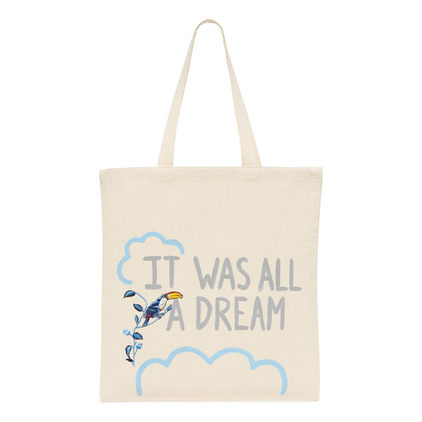 ZHUU dream tote - A lightweight Zhuu tote accented with playful 'It Was All A...