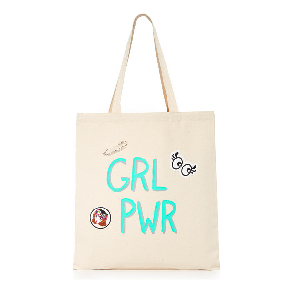 ZHUU grlpwr tote - A lightweight Zhuu tote accented with playful 'GRLPWR'...