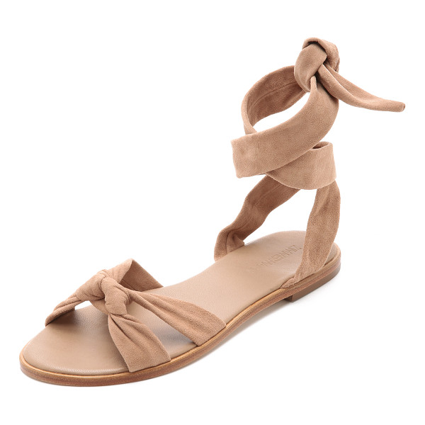 ZIMMERMANN Ankle tie flat sandals - Supple straps knot over the toe and wrap around the ankle