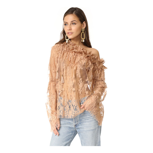 ZIMMERMANN bowerbird lace blouse - NOTE: Zimmermann uses special sizing. A relaxed Zimmermann...