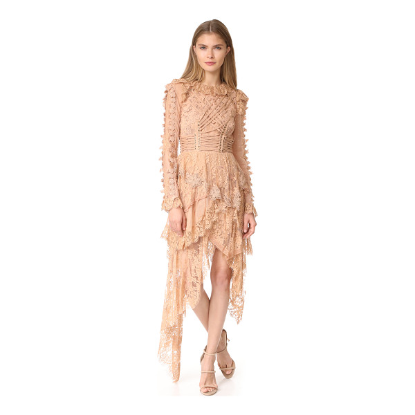ZIMMERMANN bowerbird romance mini dress - NOTE: Zimmermann uses special sizing. Corset-like lacing...