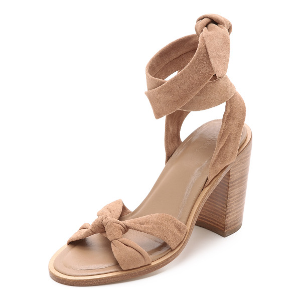 ZIMMERMANN Loop knot ankle tie heels - Supple straps knot over the toe and wrap around the ankle...