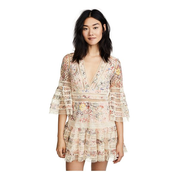 ZIMMERMANN lovelorn floral flutter dress - Fabric: Embroidered cotton Fluted ruffles on sleeves and...
