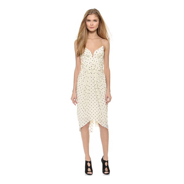 ZIMMERMANN Seer dot balconette dress - Polka dotted silk crepe composes this shoulder baring...