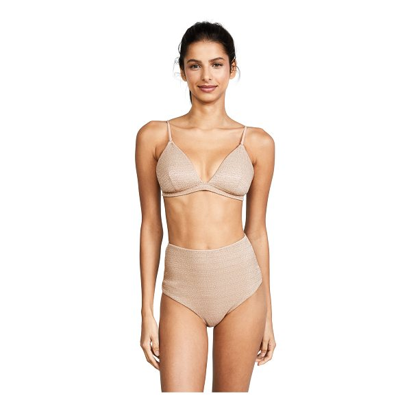 ZIMMERMANN separates fixed triangle bra - A metallic Zimmermann bra with lightly padded triangle...