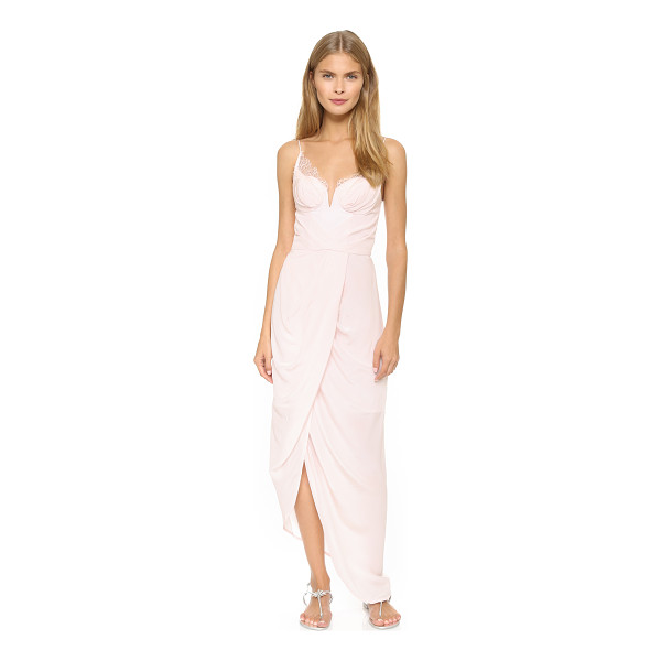 ZIMMERMANN Silk lace underwire dress - A structured notch divides the lightly padded, underwire...
