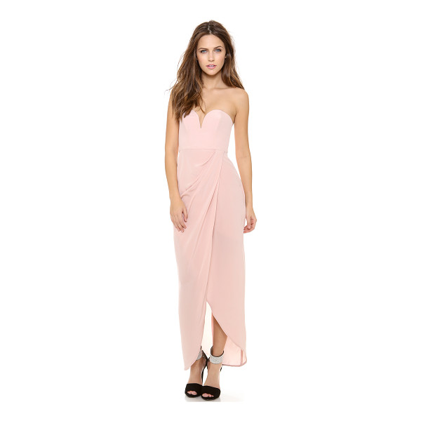 ZIMMERMANN strapless drape maxi dress - NOTE: Zimmermann uses special sizing. Soft boning supports...