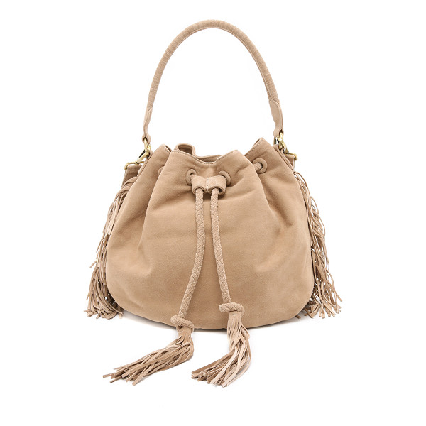 ZIMMERMANN Suede bucket bag - A slouchy Zimmermann bucket bag in rich suede, accented...