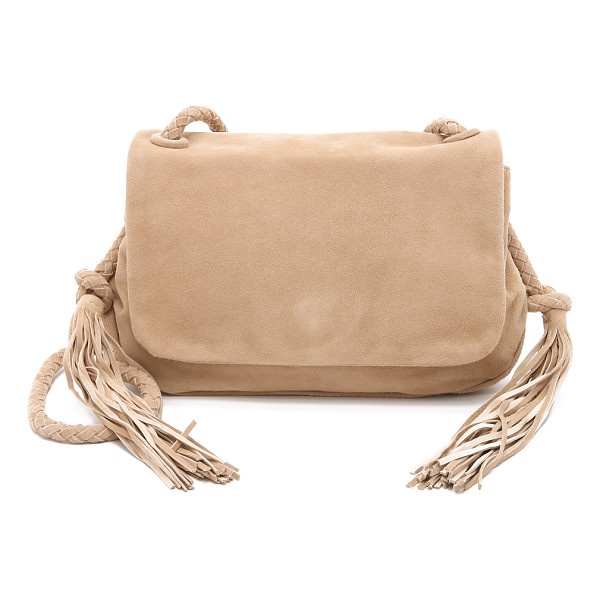 ZIMMERMANN Suede tassel cross body bag - 2 tassels accent the sides of this slouchy Zimmermann cross