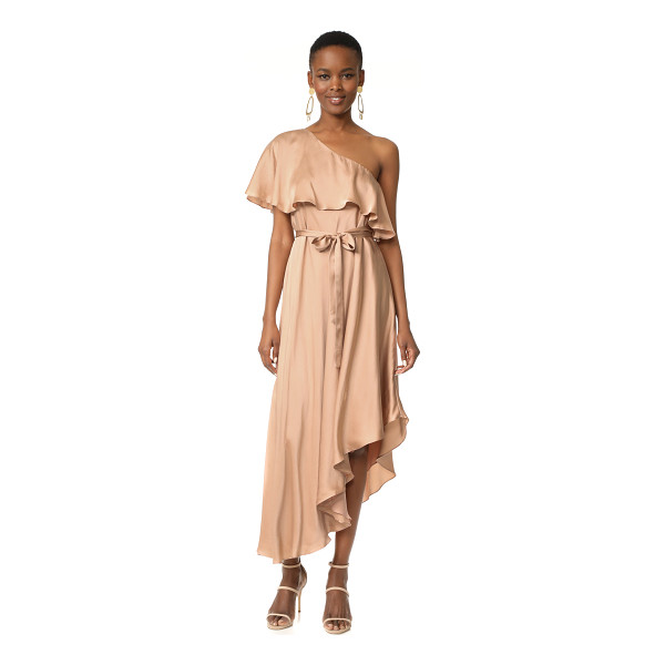 ZIMMERMANN sueded one shoulder long dress - NOTE: Zimmermann uses special sizing. An elegant silk...