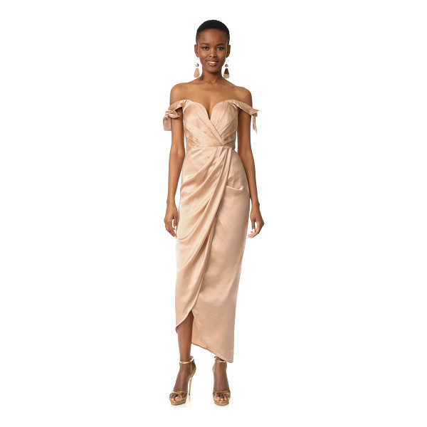 ZIMMERMANN winsome drape cocktail midi dress - NOTE: Zimmermann uses special sizing. An elegant silk...
