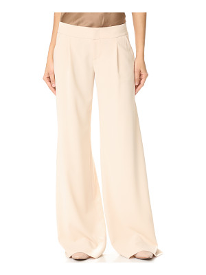 ALICE + OLIVIA Eric Wide Leg Pleat Front Pants