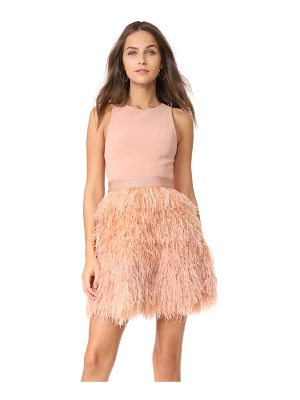 ALICE + OLIVIA Philomena Feather Dress