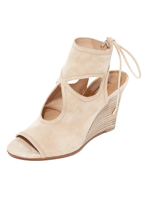 Aquazzura sexy thing wedge booties
