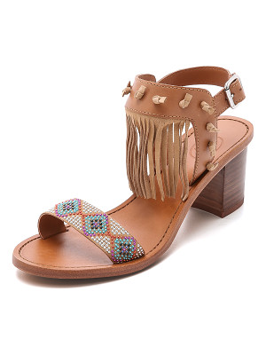 Ash Patchouli fringe sandals