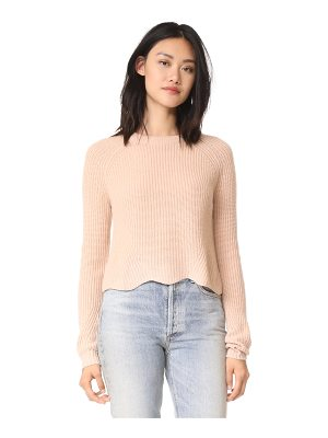 Autumn Cashmere scalloped cashmere shaker sweater