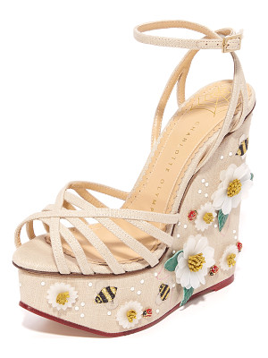 Charlotte Olympia floral meredith sandal wedges