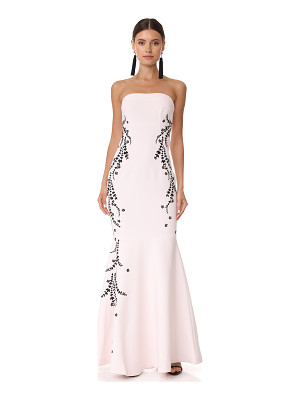Cinq A Sept luna embroidered gown