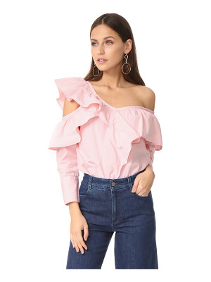 CLU asymmetrical top with ruffle