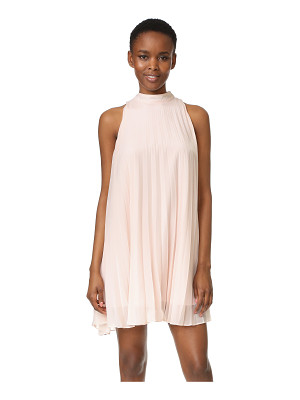cupcakes and cashmere holly shimmer pleated trapeze dress