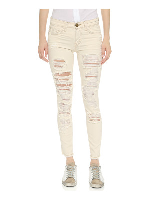 Current/Elliott The stiletto jeans with raw edges