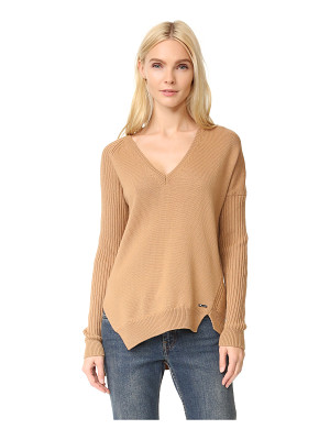 Dsquared2 v neck ribbed sweater