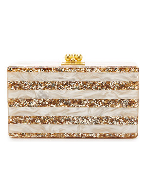 Edie Parker jean striped clutch