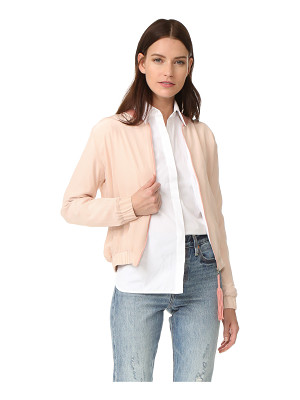 Emerson Thorpe elma silk bomber jacket