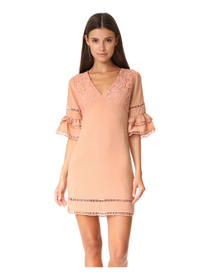 ENDLESS ROSE Ruffled Sleeve Dress With Trim Detail