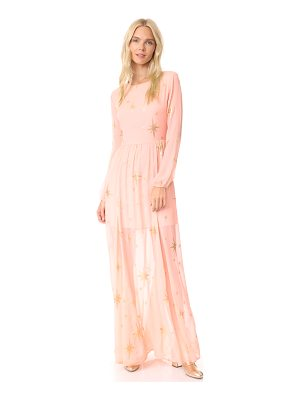 FOR LOVE & LEMONS Gilded Star Maxi Dress