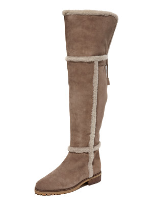 FRYE Tamara Shearling Over The Knee Boots