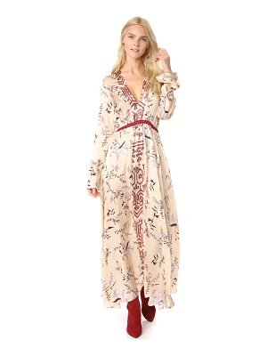 GIADA FORTE The Precious Garden Print Silk Dress
