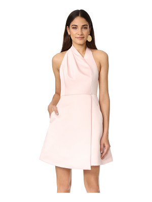 Halston Heritage halter neck draped dress