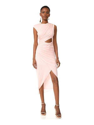 Halston Heritage round neck draped dress