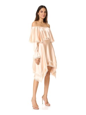 JONATHAN SIMKHAI Off Shoulder Ruffle Dress
