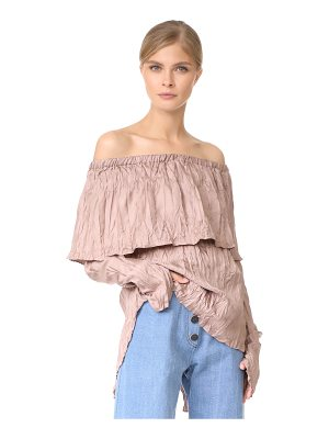 JUAN CARLOS OBANDO Pleated Peasant Blouse
