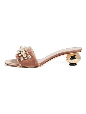 KATE SPADE NEW YORK Penrose Gold Ball Heel City Sandals