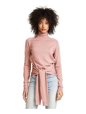 KENDALL + KYLIE tie front turtleneck