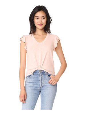 LA VIE BY REBECCA TAYLOR Short Sleeve Washed Textured Jersey Top