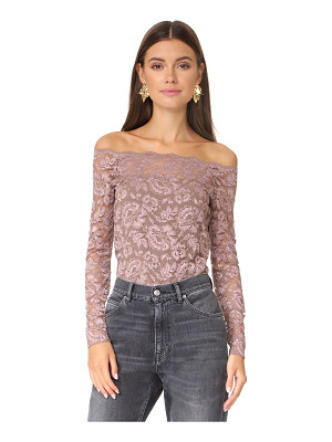 L'AGENCE Heidi Off Shoulder Lace Top
